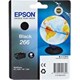 Epson Original 266 inkt Globus, WF-100W WF-110W, wis- en waterbestendige pigmentinkt (zwart)