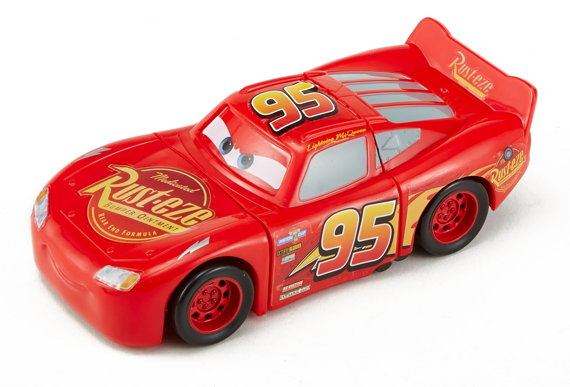Disney DYW39 Pixar Cars 3 Race and Reck Lightning McQueen Vehicle Disney New Disney Pixar Cars 3 Twisted Crashers vehicle.  His body twists and his eyes change after the crash!  Restore him to his former; pre smash glory by simply twisting the car back into place! 6