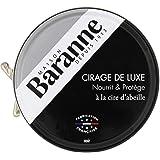 Baranne - Cirage de Luxe Noir Traditionnel à la Cire d'Abeille - Nourrit, Protège, fait Briller et Ravive le Cuir des Chaussu