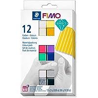 Staedtler C12-1ST FIMO Effect - Pasta modellante indurente in forno, set con 12 colori ad effetto, 8013 C12-1…