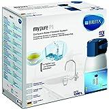 BRITA Armatur mit integriertem Wasserfilter mypure P1 - Wasserhahn mit Filter zur Reduzierung von Kalk, Chlor und geschmacksstörenden Stoffen
