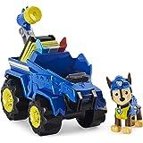 PAW Patrol Dino Rescue Chase Deluxe Rev Up Vehículo con Misterio Figura de Dinosaurio