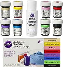 bakeryteam Wilton Lebensmittelfarben im Superset 8er Set plus Weiß (8 x 28g + 59ml)