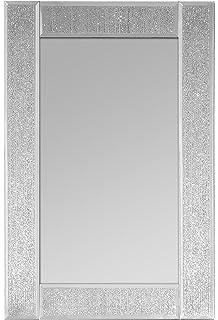 Innova M06896 Ascot Miroir Rectangulaire Verre Scintillement Argent 30 X 45 Cm