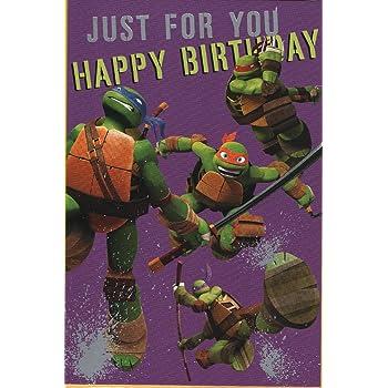 Hallmark Teenage Mutant Ninja Turtles 6th Birthday Card For Him