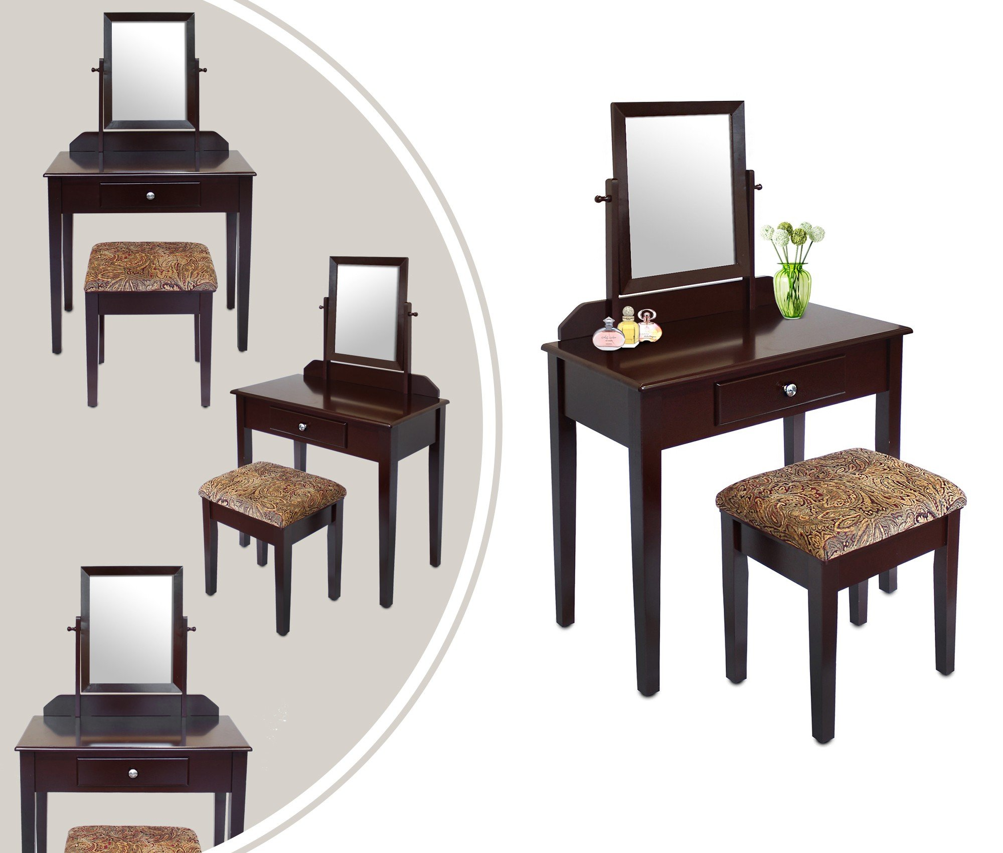 leogreen coiffeuse meuble pour se maquiller inspid co. Black Bedroom Furniture Sets. Home Design Ideas