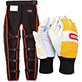 OREGON Universal Type A Chainsaw Safety Leggings, Adjustable Protective Chaps Trousers - Front Protection Only (575780) & 295