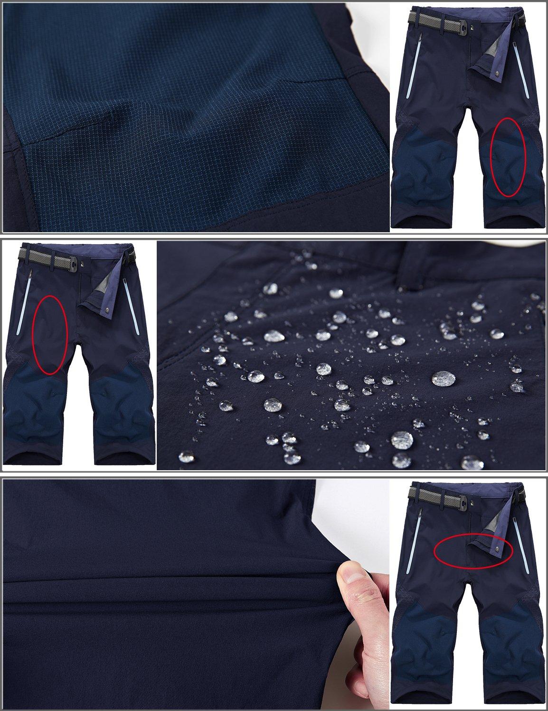 81Pk52t YcL - Mr.Stream Men's Water Resistan Classic Bermuda Beach Quick Drying Cargo Shorts 3/4 Capris Walking Casual Cropped Trousers