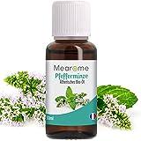 Pfefferminzöl BIO | Ätherisches Öl 100% Naturrein | Minzöl gegen Kopfschmerzen + Migräne | Pfefferminz-Öl Zum Verzehr | Aroma für Diffuser | Duftöl für Duftlampe - Aromatherapie Minze Pur
