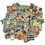 100 klistermärken/klistermärken – retro, graffiti-stil, resor, märken för skateboard, snowboard, resväska, anteckningsbok, bi