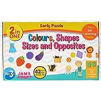 Amazon Brand - Jam & Honey Shapes, Sizes, Opposites and Colours Puzzle