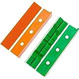 GarMills Schraubstock, weiche Backen, 2 Stück, universal, magnetisch, nicht beschädigend, Mehrzweck-Schraubstock, Schutzhüllen, 1 Multi-Rillen und I Standard-Set 155 mm