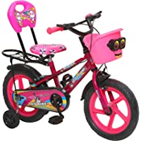 """Outplayo Ny Bikes 14"""" Tyres Kids Cycle for 3 to 5 Years Age Pink Blue"""