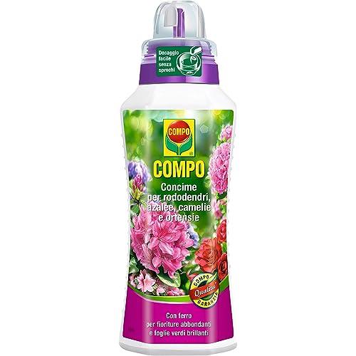 COMPO Concime per Rododendri, Azalee, Camelie e Ortensie, Per tutte le Piante acidofile da balcone, terrazzo o giardino, 1 l