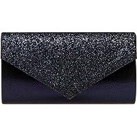 Caspar TA517 Damen kleine elegante Glitzer Clutch Tasche Abendtasche