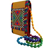 Craft Trade Womens Cotton Rajasthani Design Cross Body Traditional Embroidery Envelope Style Clutch Sling Bag Side Bags for G