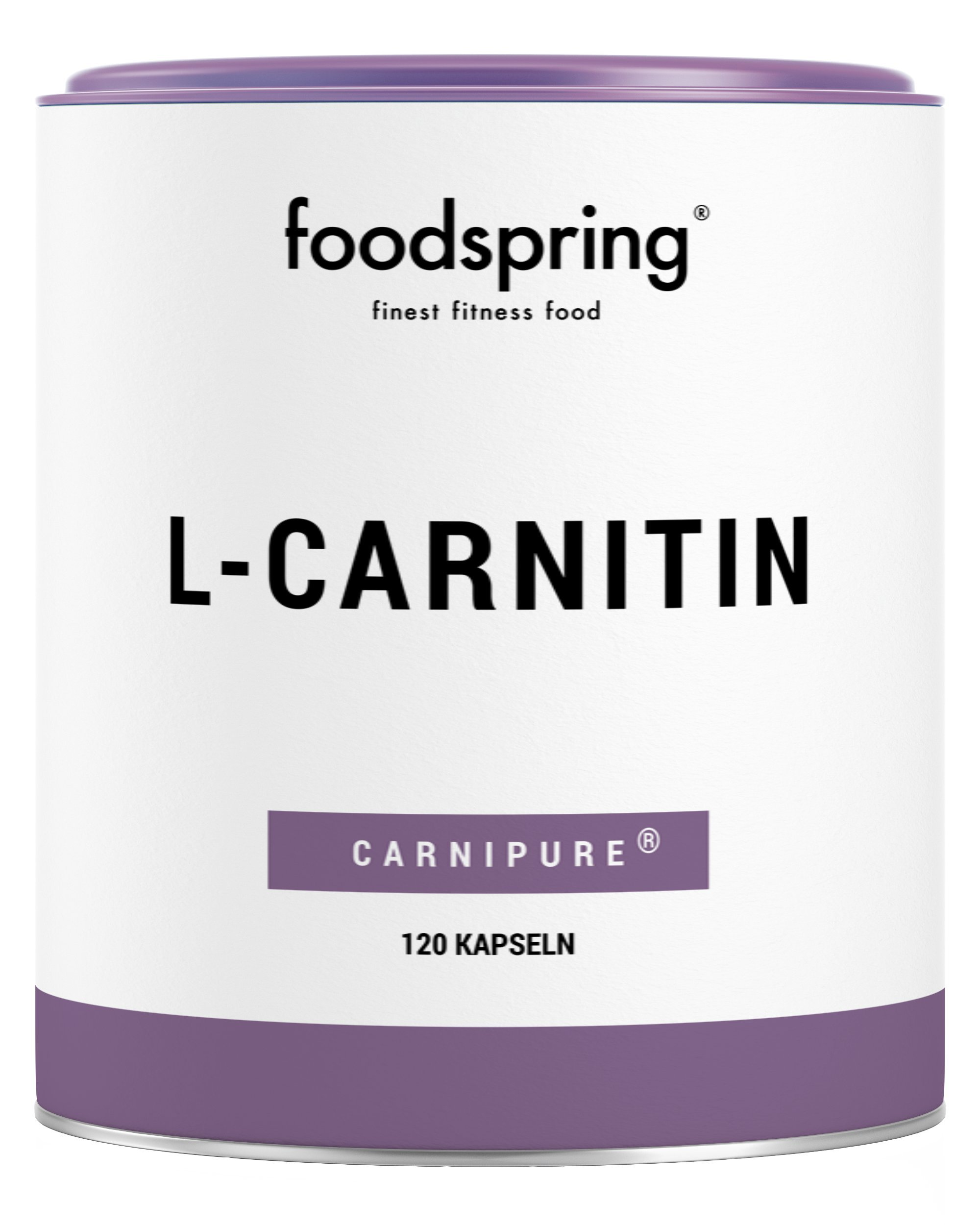 foodspring L-Carnitine, 120 Capsules, Vegan supplement ideal for shape training with 1000mg Carnipure per 100g