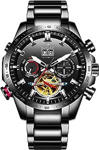 B Binger, orologio automatico da uomo, impermeabile, meccanico, a carica automatica, con cinturino