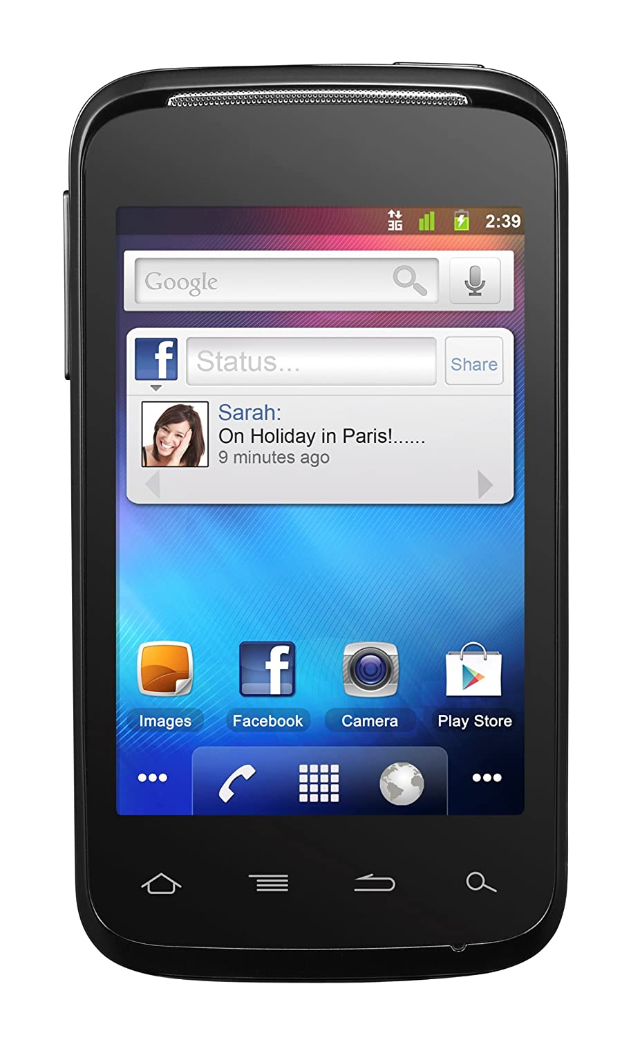 Camera Android Phones Pay As You Go alcatel one touch 983 android smartphone on orange pay as you go amazon co uk electronics