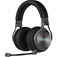 Corsair Virtuoso RGB Wireless SE High-Fidelity Gaming Headset (Slipstream Technologie, 7.1 Surround Sound, iCUE RGB, für PC, Xbox One, PS4, Switch und Mobilgeräte) Gunmetal