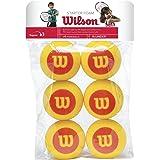 Wilson WRZ259300 Palline da Tennis Starter Foam, per Bambini, Giallo/Rosso, Confezione da 6