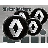 3D Aufkleber 4 Stk. Renault Logo Imitation Alle Größen Mittelkappen Radkappen (50 mm)