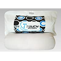 """Touch Pillows Bolsters Microfibre Shell- Big Size (9""""x24"""" Inches) (Diwan Set of 2 Pcs) (White)"""