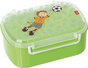 sigikid, Jungen, Brotdose mit buntem Fußball-Torwart-Druck, Brotzeitbox Kily Keeper, Grün, 24781