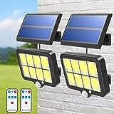 T-SUN, luz de pared inalámbrica alimentada por panel solar, dividida, 6000K, IP65 a prueba de agua, detector de movimiento, l