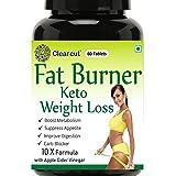 Clearcut Fat Burner, KETO Weight loss, Garcinia Combogia + Apple cidar vinegar + Green coffee + Green tea + L-carnitine…