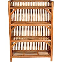 HM Services Bamboo Cane (Bait) Strong Shoe Rack Wooden Slipper Stand Utility Rack Planter Stand Bookshelf Space Saving…