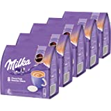 Senseo Milka Choco Pads Set of 5 Chocolate Beverages Cocoa Drinks Coffee Pads 5 x 8 Pads