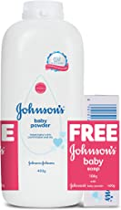 Johnson's Baby Powder (400g) with Free New Johnson's Baby Soap (100g)