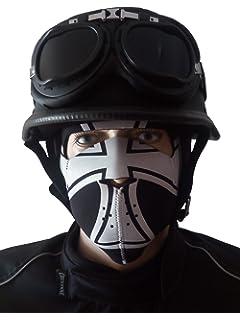 GWJ Retro-Motorrad-Helm Stahlhelm Vier Jahreszeiten Harley Halbe Helm Brille Zu Senden Pers/önlichkeit Prinz Harley Helm