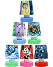 Shopkooky Cartoon Printed Plastic LED Night Lamps Perfect for Your Room (Colour May Vary) - Pack of 6 Units