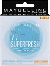 Maybelline New York White Super Fresh Compact, Shell, 8g