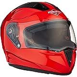 Steelbird SA-1 Aeronautics Full Face Helmet with Cromic Visor (Glossy Red, L)
