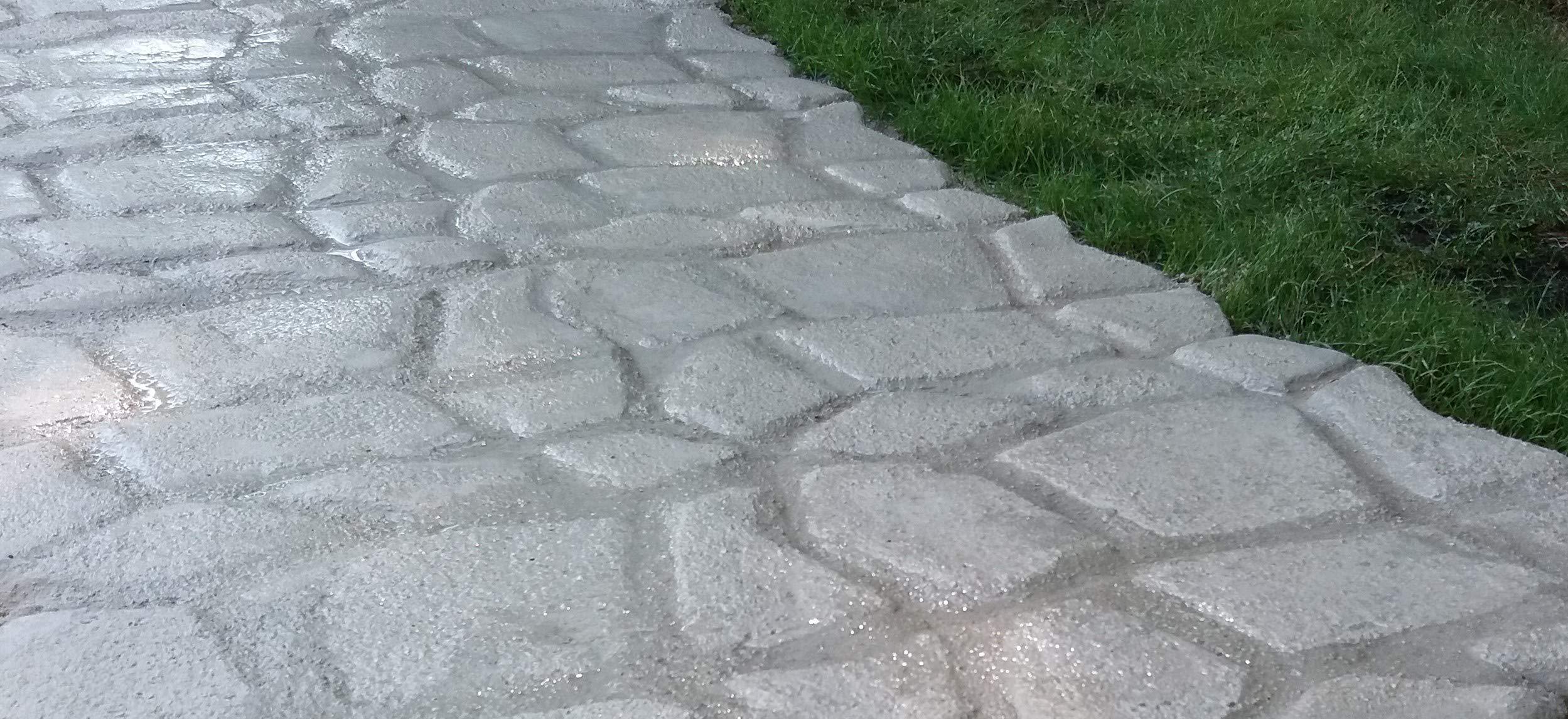 Molde para suelo de hormigón o cemento | Plantilla de piedras para estampado de suelo exterior: camino, porche, patio, jardín y terraza | Patrón de bricolaje para hacer pavimento impreso adoquinado