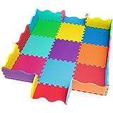 edukit Tappetino da Gioco in Schiuma Eva, 25 Pezzi, 31,5 x 31,5cm, Spessore Extra di 1,4mm – Tessere Multicolore ad…