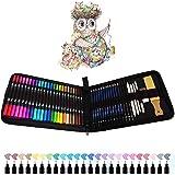 24 Stylos Feutres Pinceaux, 12 Crayon Dessin et Art Set, Idéal pour Calligraphie, Dessin de Précision, Écriture, Coloriage po