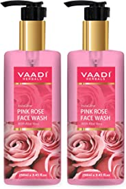 Vaadi Herbals Pack Of 2 Insta Glow Pink Rose Face Wash With Aloe Vera Extract, 250 ml (Pack of 2)
