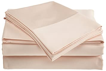 belle epoque 500 thread count supima cotton sheet set pink champagne full - Pima Cotton Sheets