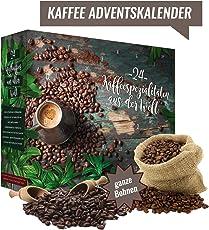 Kaffee Adventskalender mit 24 edlen Kaffees aus aller Welt (GANZE BOHNE) I Kaffeekalender als Geschenk für Erwachsene I Weihnachtskalender mit Kaffee Geschenkset (Kaffee Adventskalender 24x20 GR)