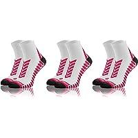 Sesto Senso Calze Corte Sportive Colorate Jogging Donna Uomo 3 Paia Cotone