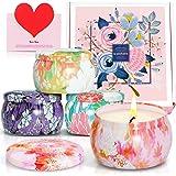 SCENTORINI Bougies Parfumées Coffret Jardin Secret Cire Végétale, 60h, Idées cadeaux pour la St Valentin, la fête des femmes,