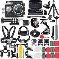 Neewer G1 Ultra HD 4K Action Kamera Set 170 Grad Weitwinkel WiFi Sports Cam 12MP 98ft Unterwasser wasserdichte Kamera…