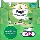 Page Vochtig Toiletpapier - Aloë Vera - 456 Stuks - 12 x 38 Stuks - Voordeelverpakking