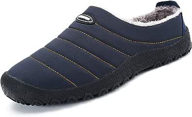 Pantofole Casa/Esterno Donna Uomo Scarpe Inverno Calde e Morbide con Comode Imbottitura Interna e Suola Spessa Antiscivolo