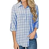 YOINS Camicia Donna Elegante Camicetta Donna Primavera Manica Lunga Camicie Blusa Scollo V Casuale