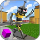 Cube Steppy Sim: Pixel World Walking Steps Dummy Simulator | Pixel Runner Walker Texas Dummy Dismount | Cube Run Steppy Street
